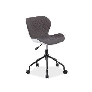 Kancelářská židle RINO šedá/bílá