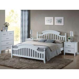 Dřevěná postel Lizbona 160x200 barva bílá
