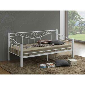 Kovová postel KENIA 90 x 200 cm bílá