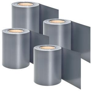 PVC ochranný pás 4 kusy - světle sivá